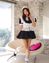 Miyu Hoshino Asian shows nasty behind under very short uniform